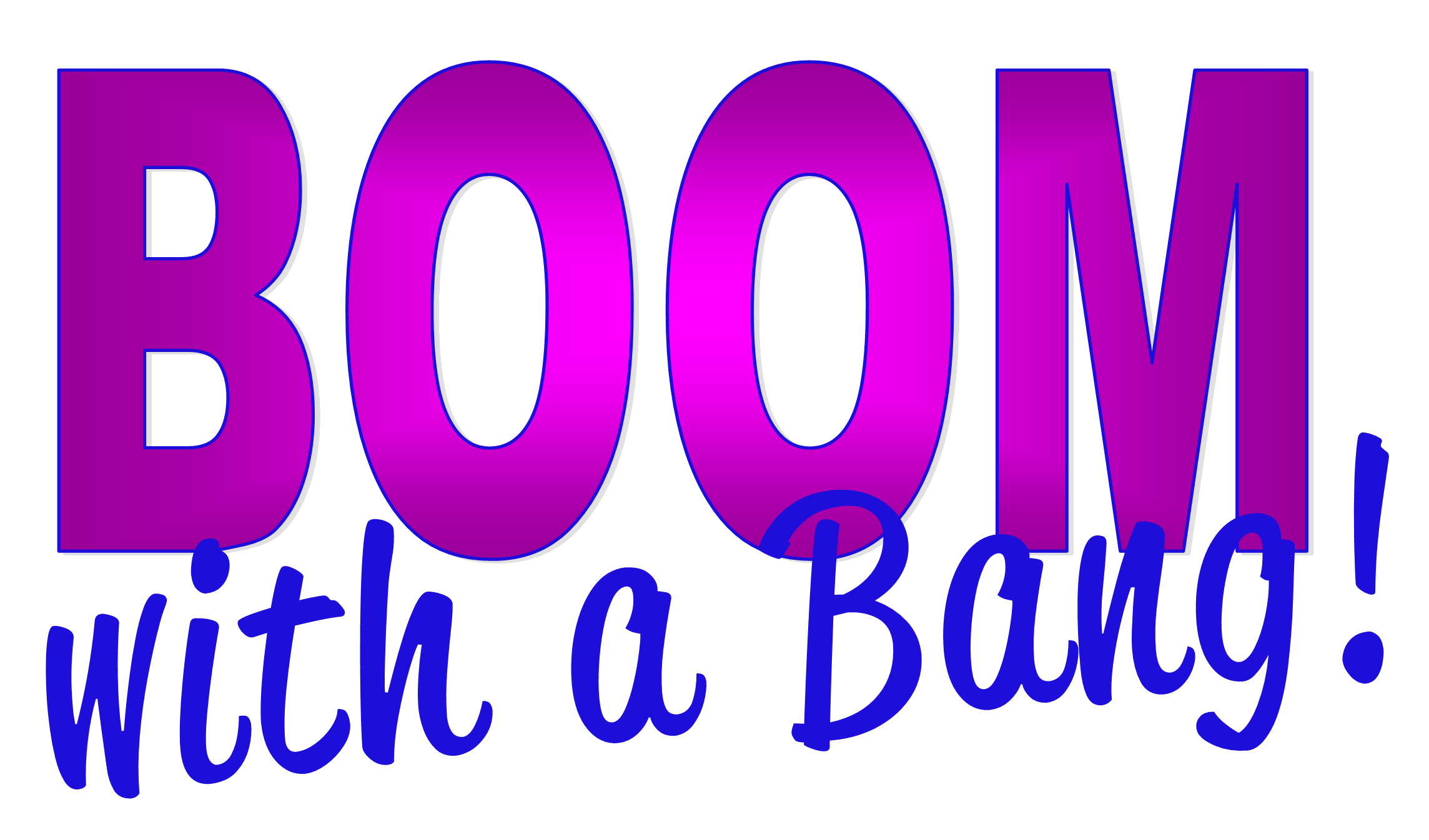 BOOM with a bang logo pt